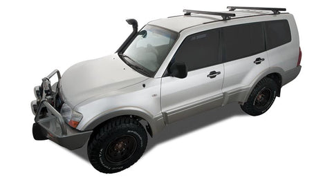 Heavy Duty RLTP Trackmount Black or silver 2 Bar Roof Rack