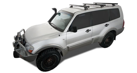 Heavy Duty RLTP Trackmount Black or Silver 3 Bar Roof Rack