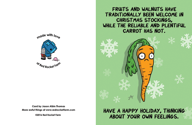 Carrot Holiday Card