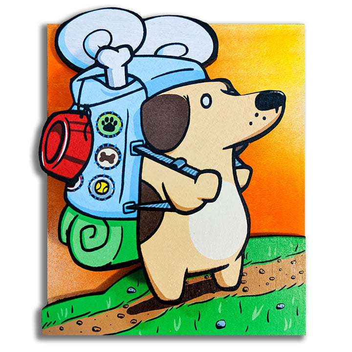 Chapter Goes Hiking - Wall Art-Wall Art-Red Rocket Farm