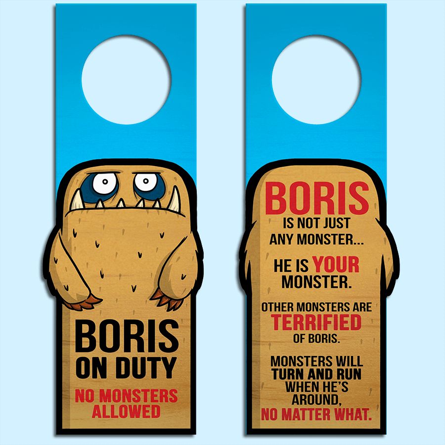 Boris the Monster - Door Hanger