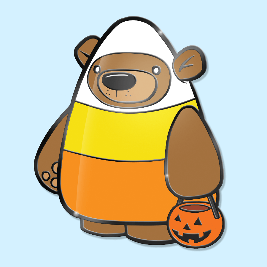 Treat Bear Candy Corn - Hard Enamel Pin