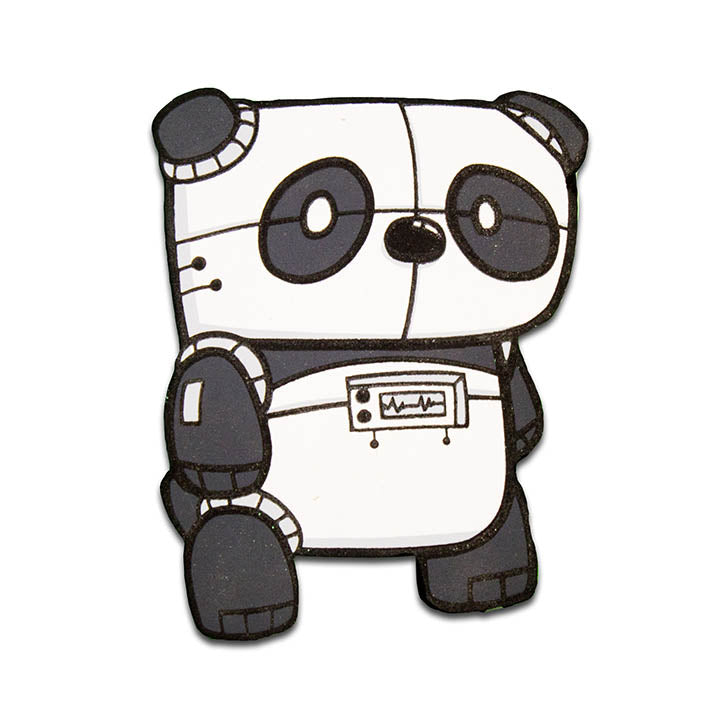 Electric Panda Magnet-Magnet-Red Rocket Farm