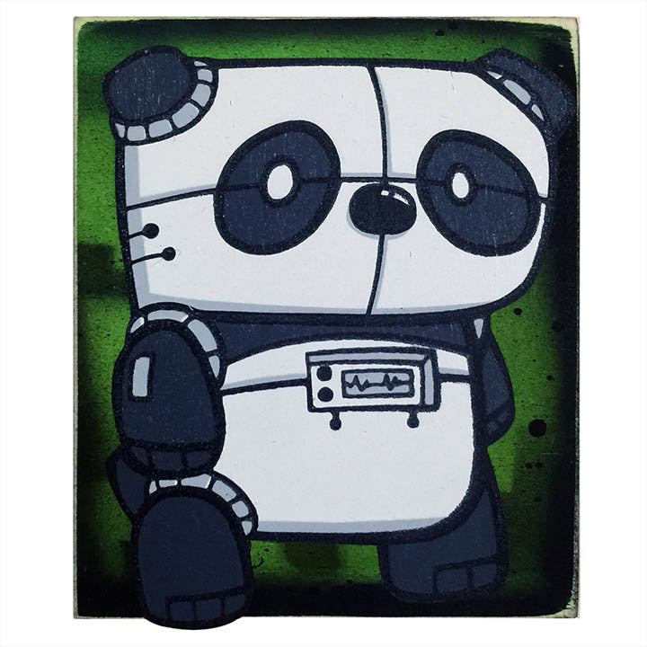 Electric Panda- Wall Art-Wall Art-Red Rocket Farm
