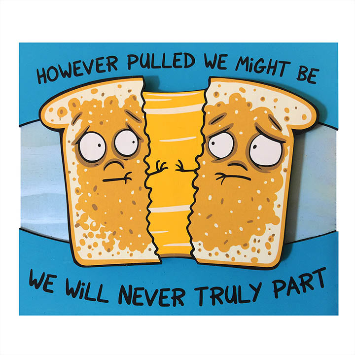 Medium Grilled Cheese Sadwich - Wall Art-Medium Wall Art-Red Rocket Farm