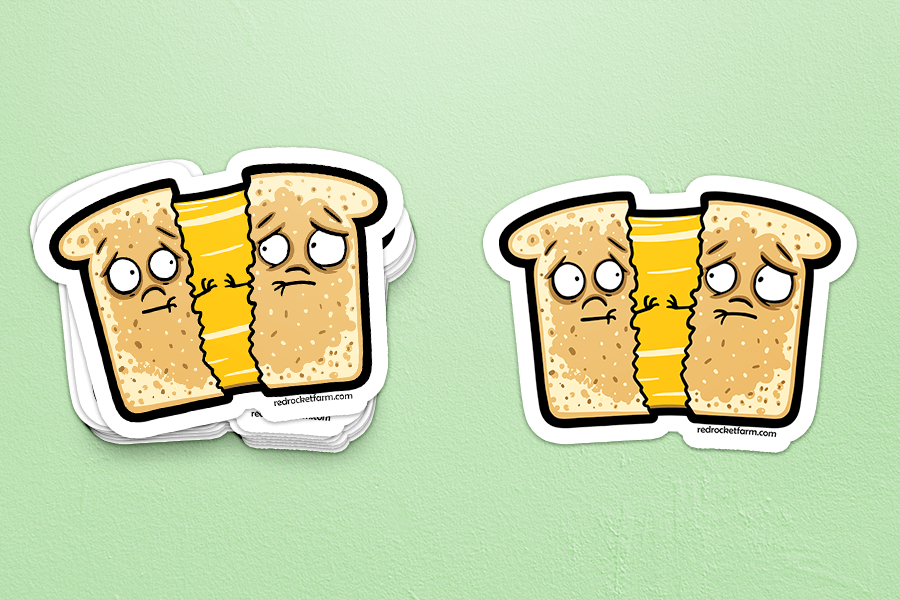 Grilled Cheese Sadwich Sticker