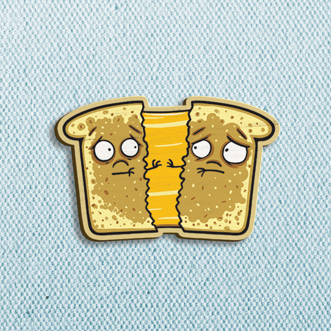 Grilled Cheese Wooden Pin