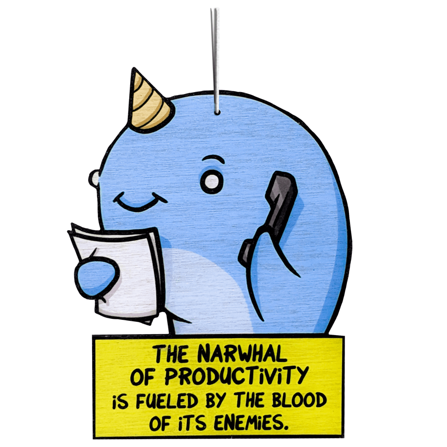 The Narwhal of Productivity - Ornament