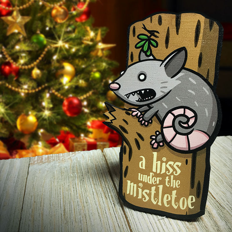 Alice the Holiday Opossum Desktop Ally