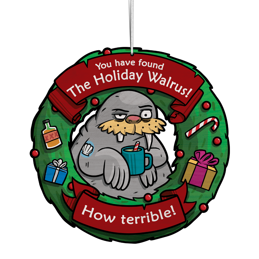 The Holiday Walrus Ornament