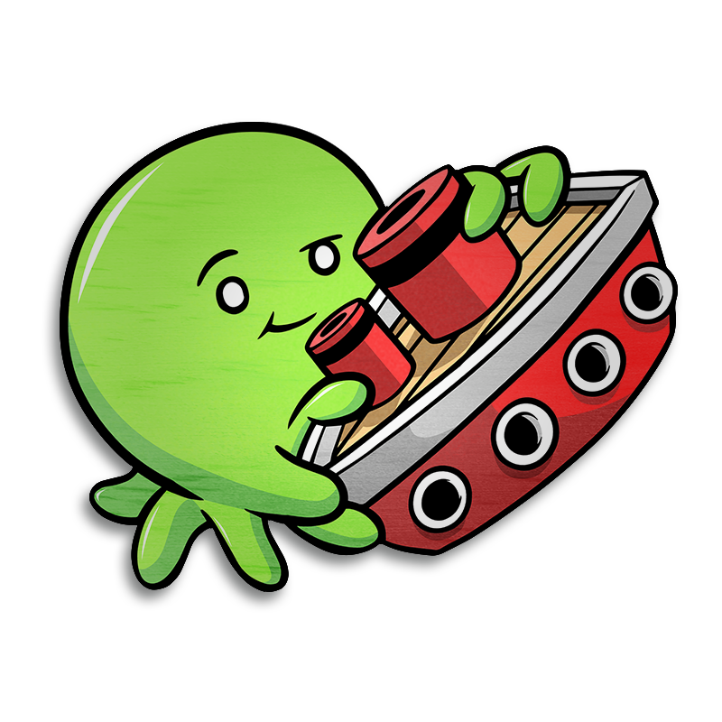 Tiny Kraken Magnet - Lime-Magnet-Red Rocket Farm