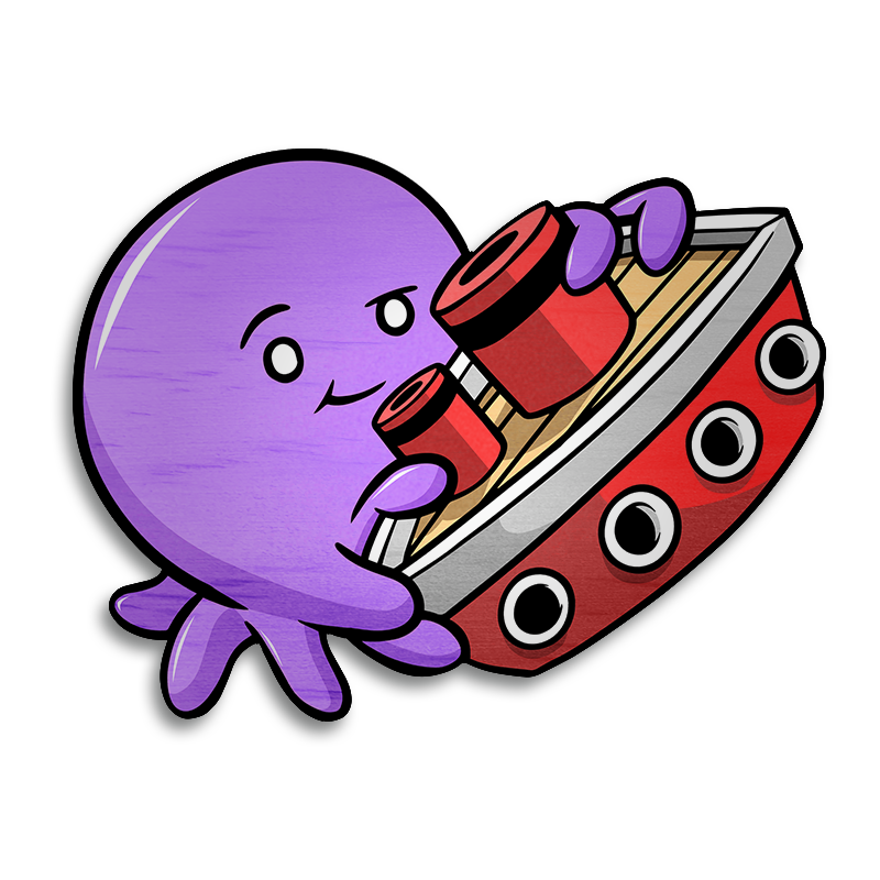 Tiny Kraken Magnet - Violet-Magnet-Red Rocket Farm
