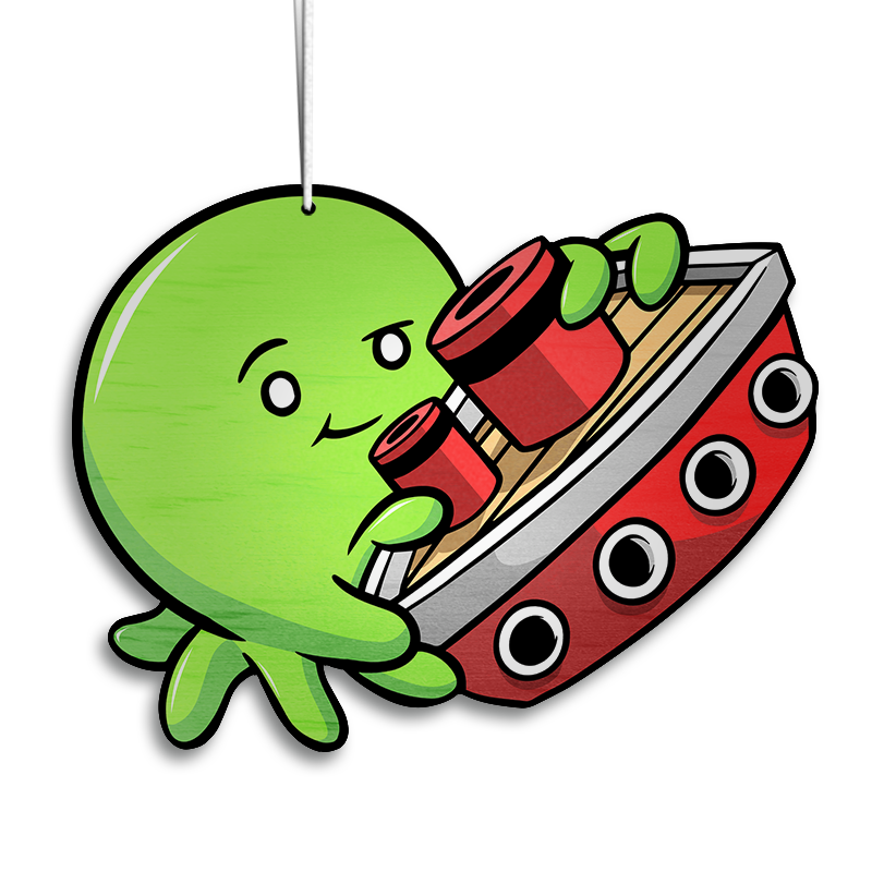 Tiny Kraken Lime - Ornament