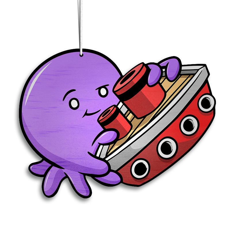 Tiny Kraken Violet - Ornament