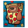 Treat Bear Pizza Pajamas - Wall Art Painting