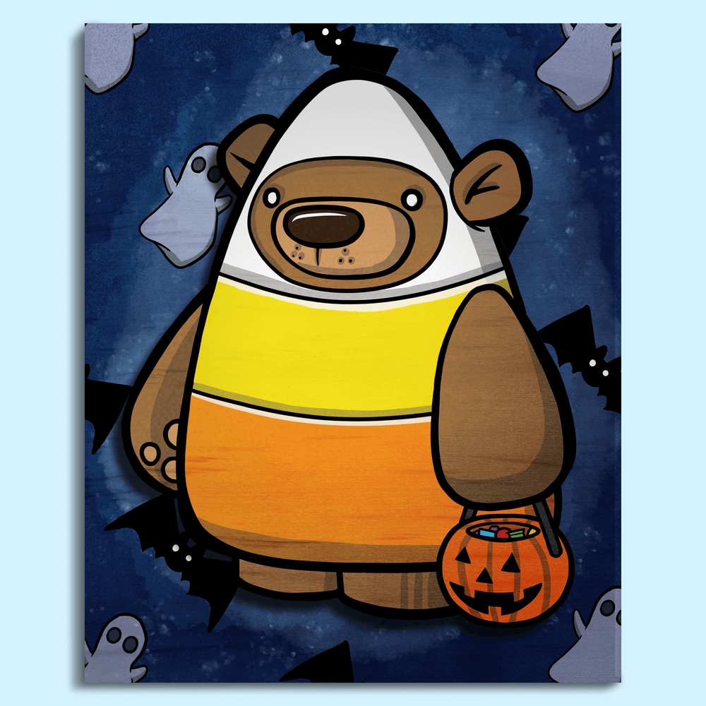 Treat Bear Candy Corn - Wall Art Painting