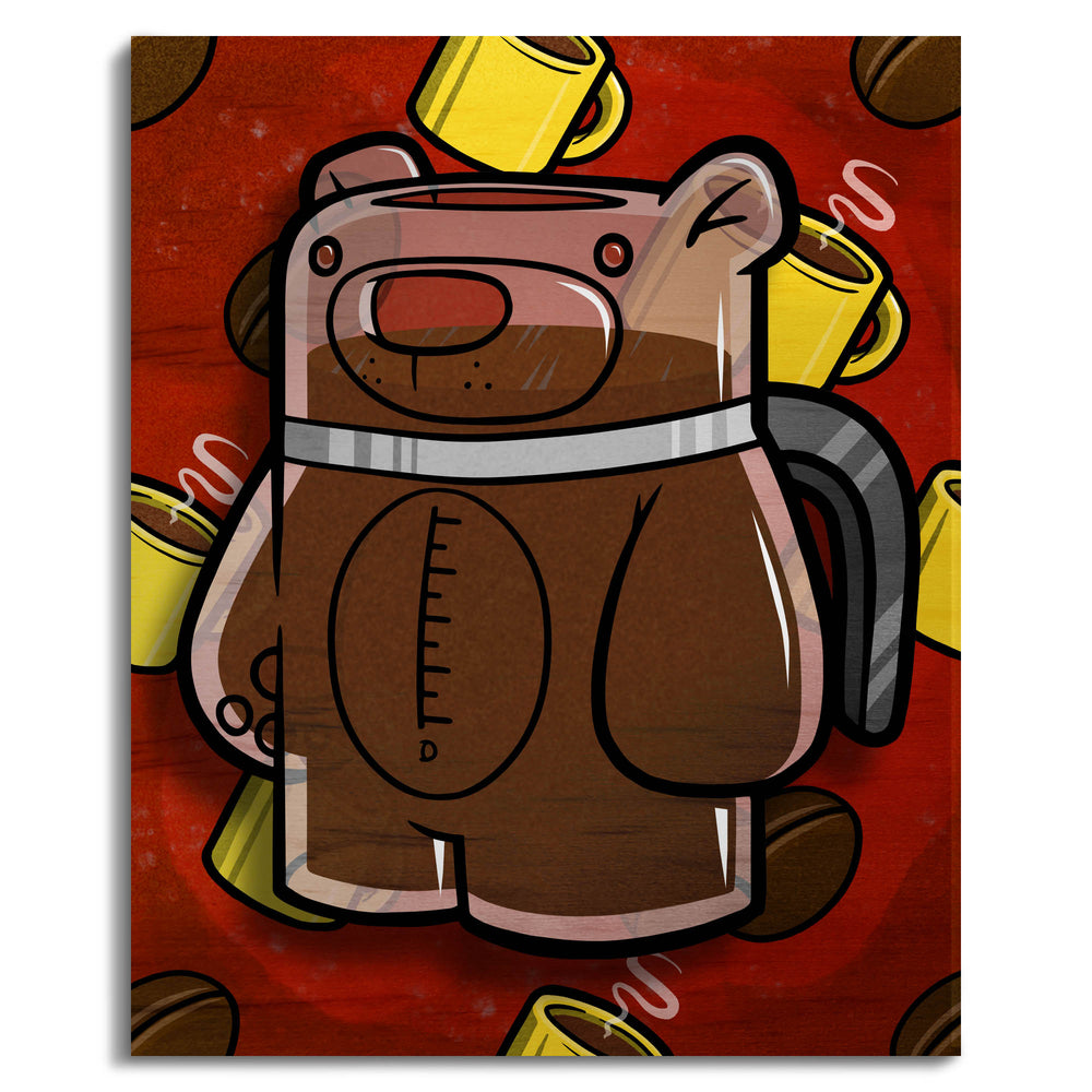 Treat Bear Coffee - Wall Art Painting