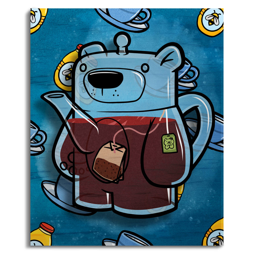 Treat Bear Tea - Wall Art Painting