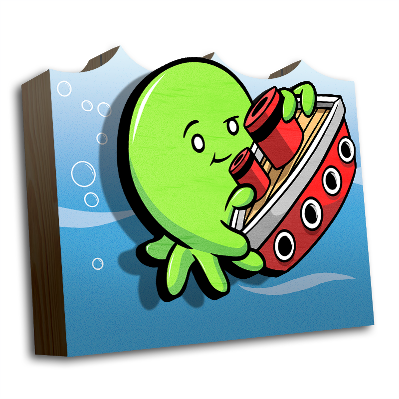 Tiny Kraken Lime - Wall Art-Wall Art-Red Rocket Farm