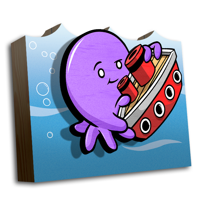 Tiny Kraken Violet - Wall Art-Wall Art-Red Rocket Farm