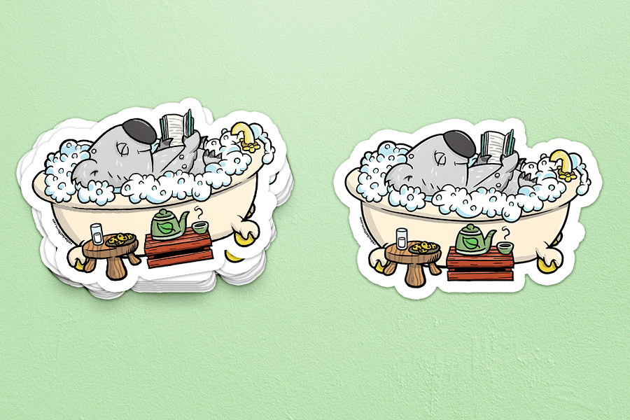 Self-Care Koala Sticker