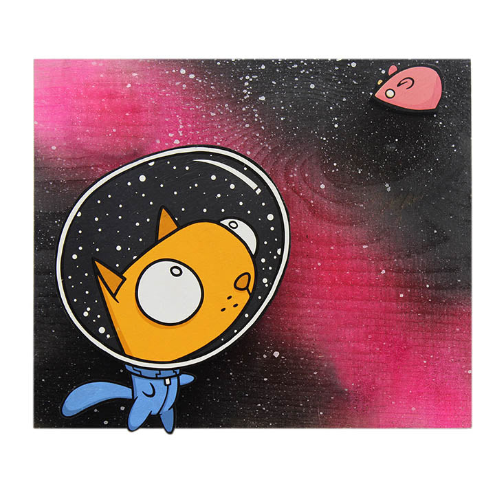 Medium Space Cat - Wall Art-Medium Wall Art-Red Rocket Farm