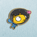Space Cat Wooden Pin
