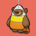 Treat Bear Candy Corn Ornament