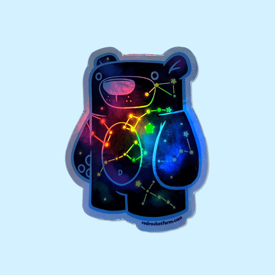 Celestial Treat Bear - Holographic Sticker