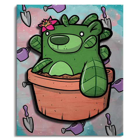 Treat Bear Houseplant - Wall Art Painting