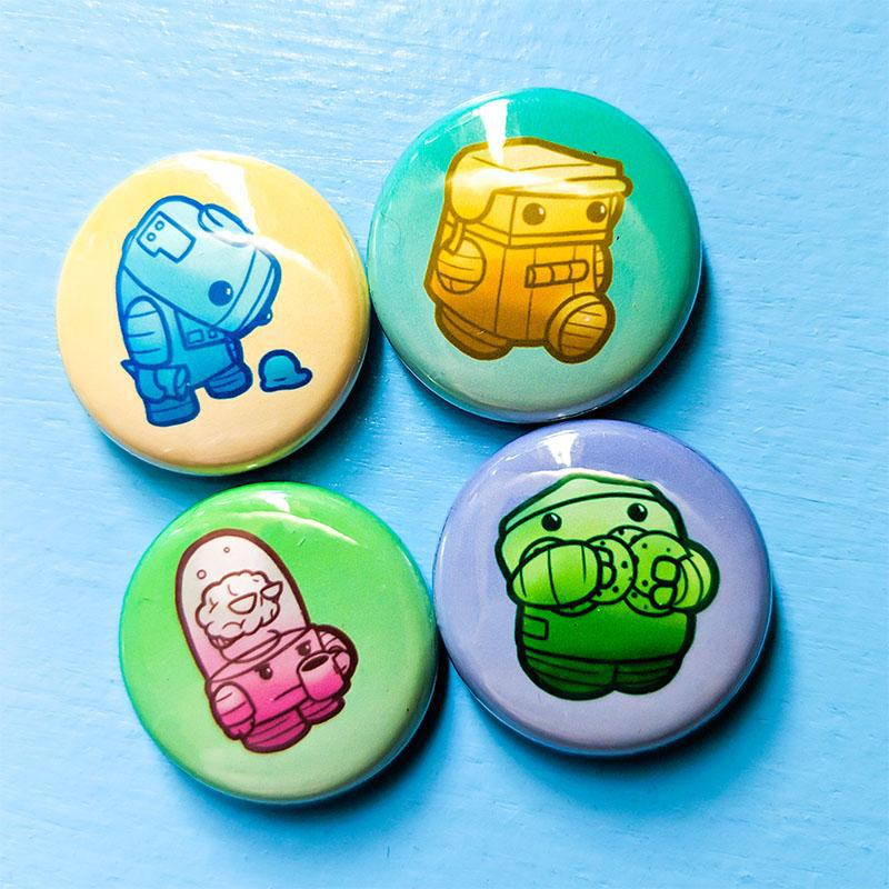 Robot Button Pack