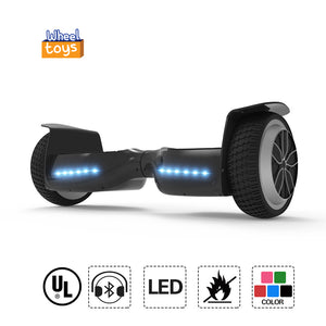 "Hot 6.5"" UL Certified Safe Hoverboard for Kids with Bluetooth-black"