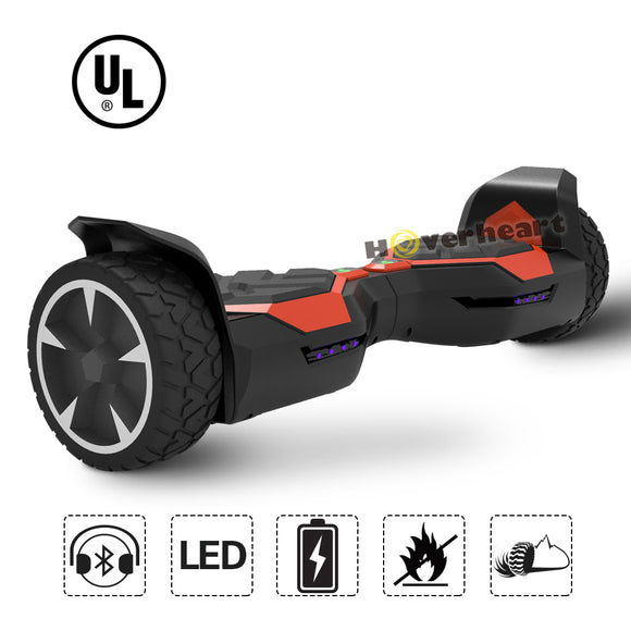 8.5 inch Off Road Red Alloy Wheel Hoverboard UL 2272 Certified-red