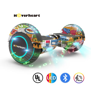 "New 6.5"" Print Coating Superhero Hoverboard- UL 2272 Certified"