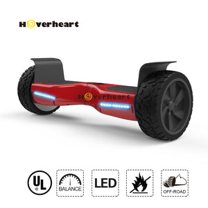 8.5 inch Blue Off Road Alloy Wheel Bluetooth Hoverboard-Red