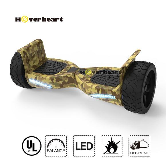 8.5 inch Blue Off Road Alloy Wheel Bluetooth Hoverboard-Army Camo