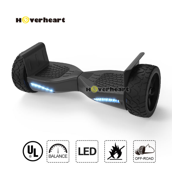 8.5 inch Blue Off Road Alloy Wheel Bluetooth Hoverboard-Black