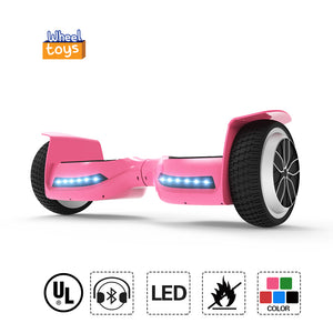 "Hot 6.5"" UL Certified Safe Hoverboard for Kids with Bluetooth -Pink"