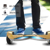 6.5 Inch Hoverboard  With Bluetooth Speaker and Lights -Chrome Gold