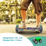 "New 6.5"" Print Coating Graffiti Hoverboard- UL 2272 Certified"