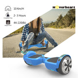 "6.5"" UL Certified Chrome Hoverboard with Bluetooth-Blue"
