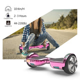 "6.5"" UL Certified Chrome Hoverboard with Bluetooth - Chrome colors"