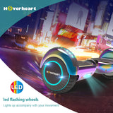 "6.5"" UL 2272 Certified Hoverboard LED Light Flash Wheel -Chrome rainbow"