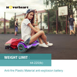 "6.5"" Metallic Chrome Hoverboard for Kids-Chrome purple"