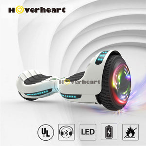 "6.5"" UL 2272 Certified Hoverboard  with Bluetooth and Self Balancing,White"