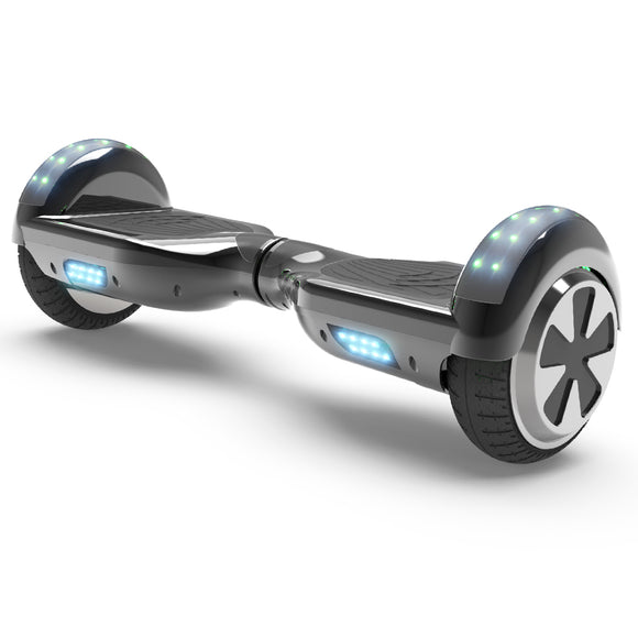 6.5'' Two Wheel Electric Hoverboard With Bluetooth-Chrome Black
