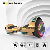 "6.5"" UL 2272 Certified Hoverboard  with Bluetooth and Self Balancing, Chrome gold"