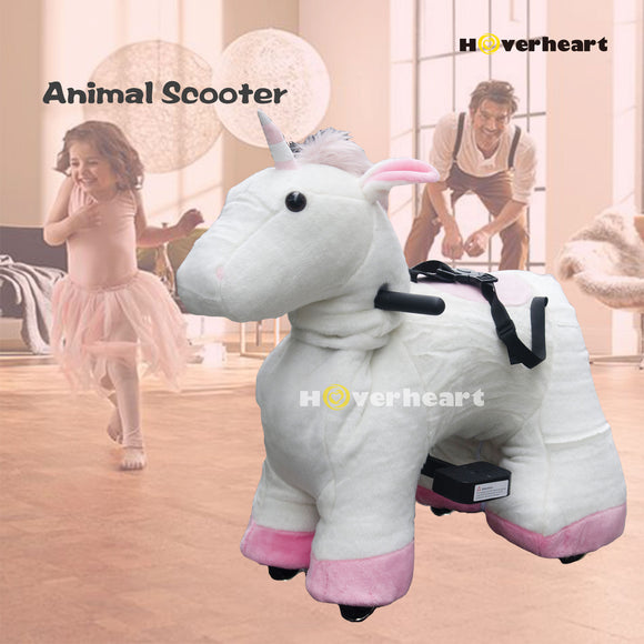 Rechargeable 6V/7A Plush Animal Ride On Toy ,Unicorn