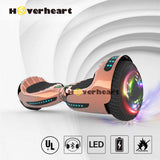 "6.5"" UL 2272 Certified Hoverboard  with Bluetooth and Self Balancing, Chrome rose gold"