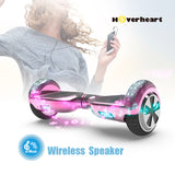 6.5'' Two Wheel Electric Hoverboard With Bluetooth-Chrome pink